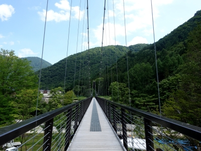 湯西川 水の郷 吊り橋