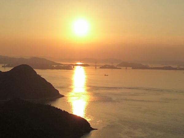岩黒橋夕景