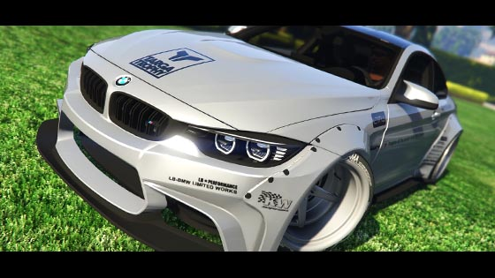 gta modbmw   hq libertywalk animated engine skinable option shaking