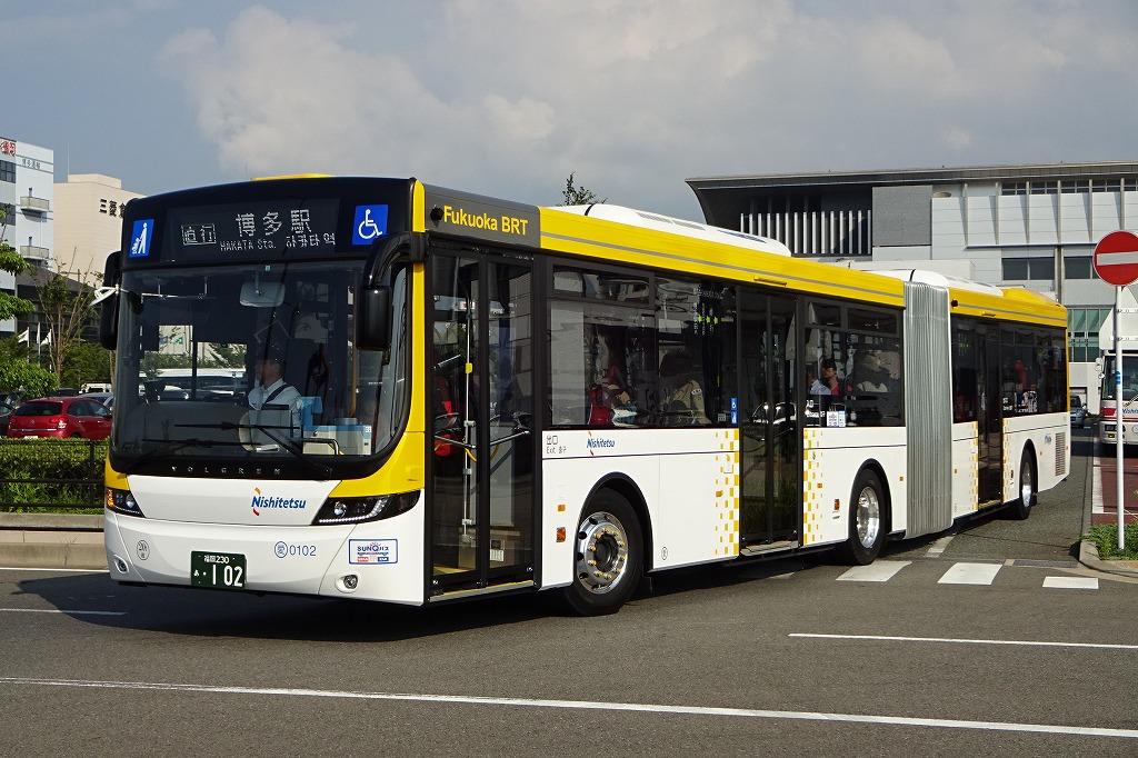 1号線の車窓から |連節バス、福岡へ!「Fukuoka BRT」連節バス車両 ...