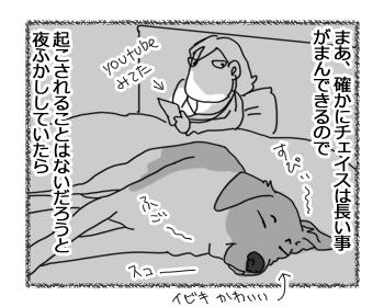 羊の国のラブラドール絵日記シニア!!「珍しく早起き」2