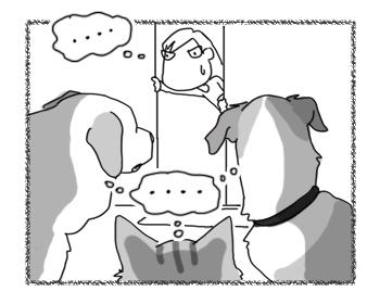 羊の国のラブラドール絵日記シニア!!「サンニン寄れば・・・?」2