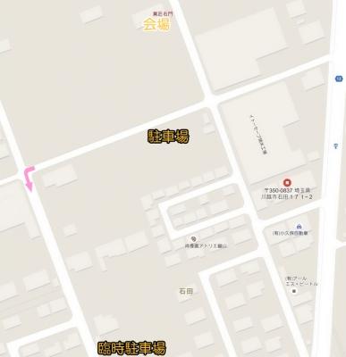 いも恋フェスタ駐車場マップ