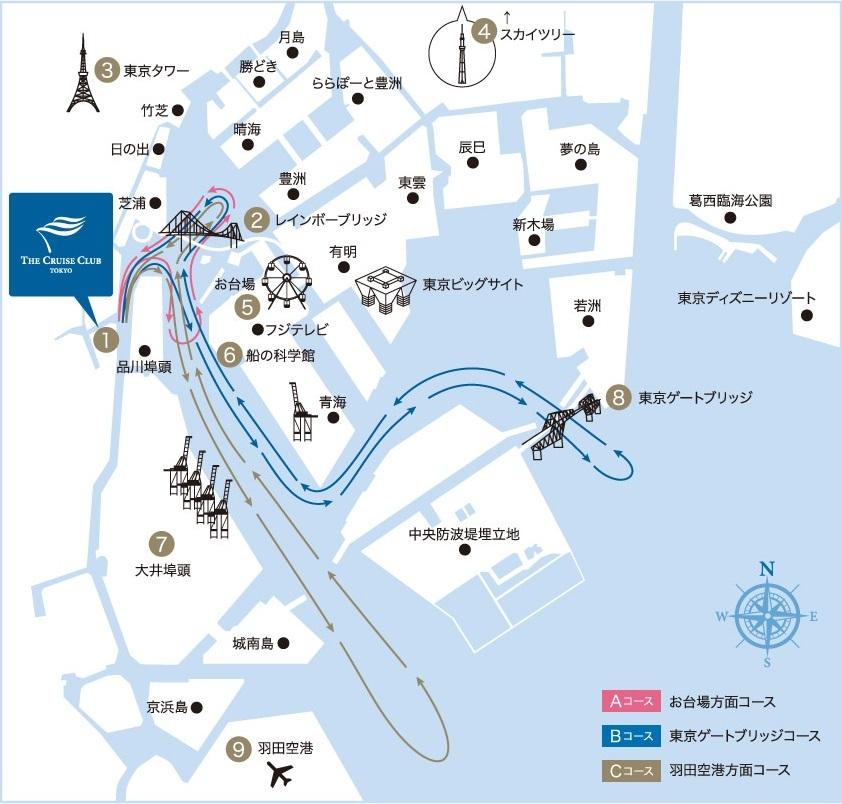 東京湾のクルーズレストラン、サービススタッフ、航海士、機関士