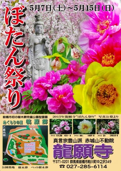 龍願寺 2016年ぼたん祭りポスター