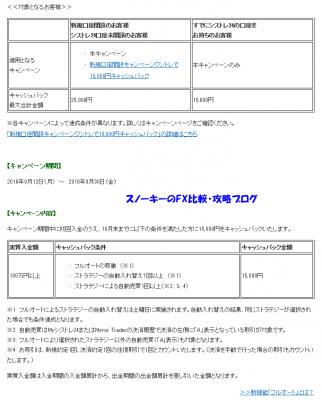 シストレ24フルオートキャンペーン15000円詳細