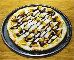 オレンジとチョコのクリームチーズピザ