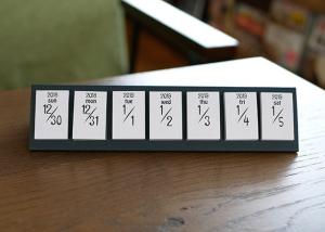 卓上付箋カレンダーhimekuri白グレー