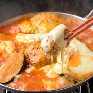 炙り大山鶏のトマトWチーズ鍋 2