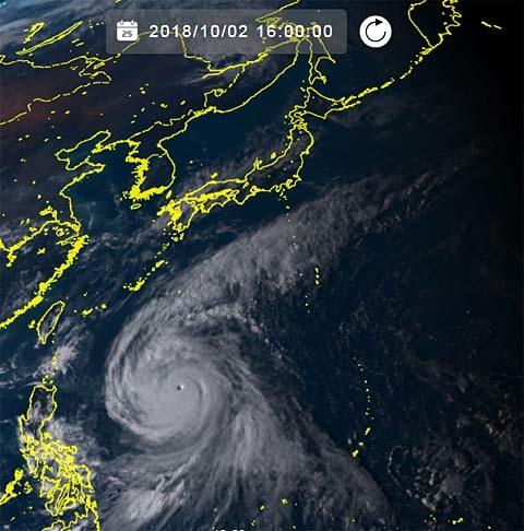 台風25号2