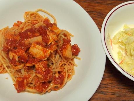 ツナのトマトソーススパゲティ