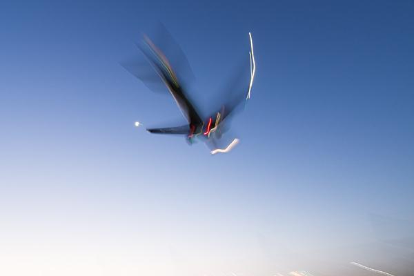 流し撮り飛行機