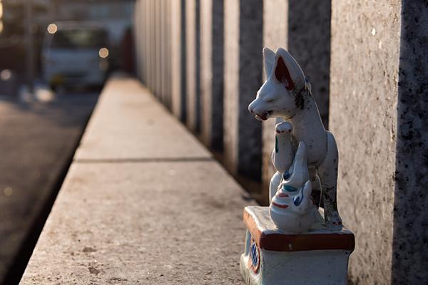 置かれていた狐の陶器
