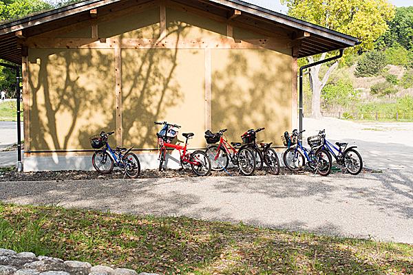 少年たちの自転車