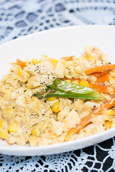豆腐炒めの卵とじ
