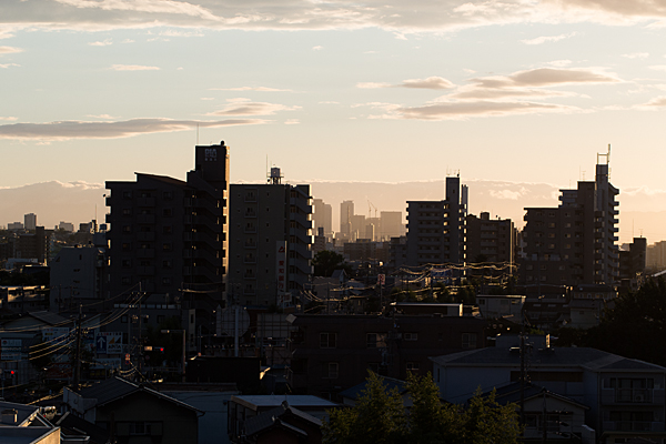 名古屋駅方面ビル風景