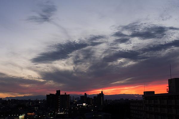 名駅方面夕焼け空