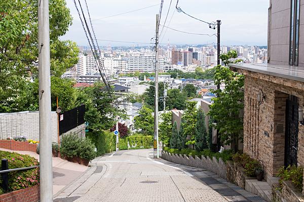 神社裏の坂道