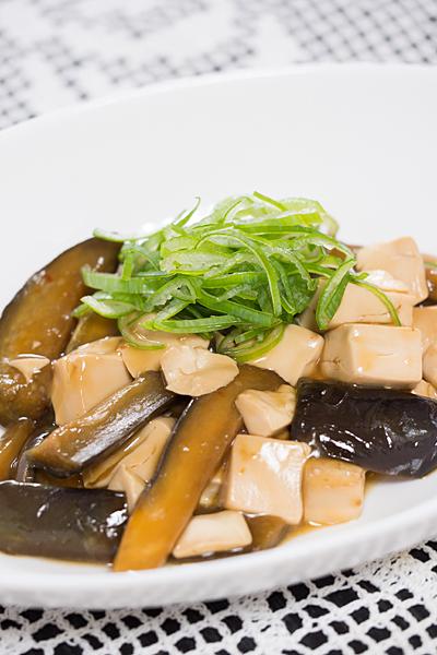 ナスと豆腐のピリ辛