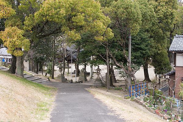 矢田川堤防から見下ろす
