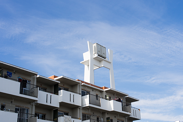 集合住宅の配水塔