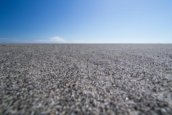 砂浜のウミガメ目線