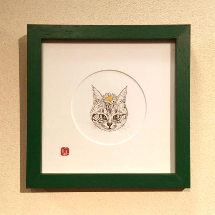大田区 池上 パンタレイ panta rhei ギャラリー なかの真実 mamimals 原画 猫