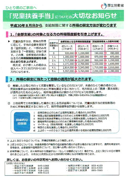 扶養手当改定01