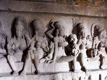 Ellora_Caves,_Matrikas_(15170218669)