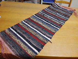 ネクタイで織った生地全体像