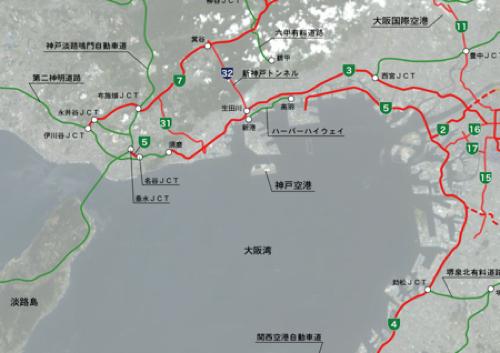 阪神高速などルートマップ