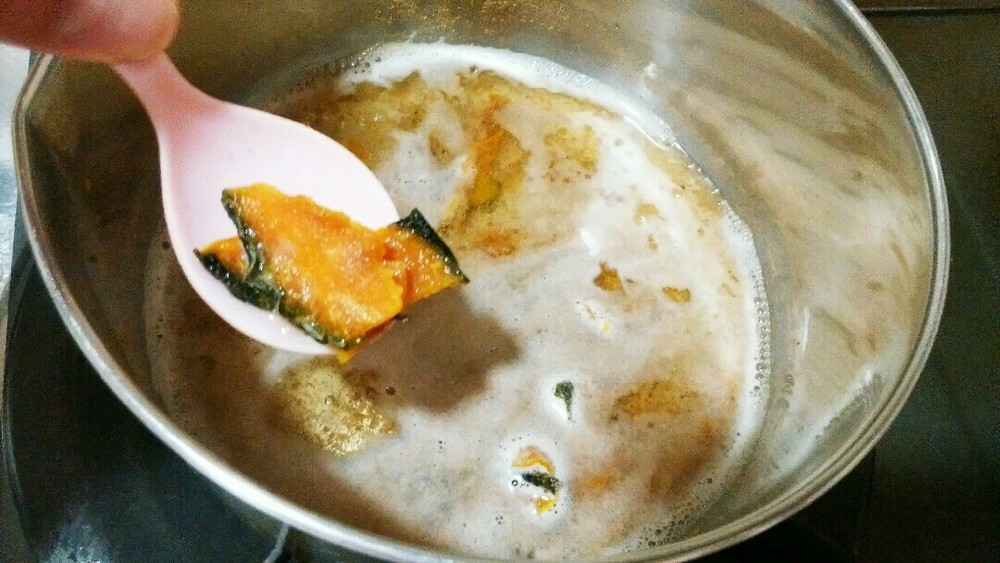 かぼちゃと豚ミンチの餡かけの作り方2