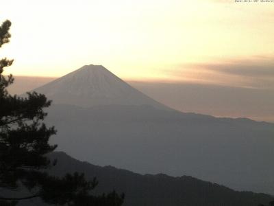 20181201富士山方面のライブカメラ画像