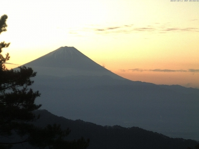 20181211 富士山方面のライブカメラ画像