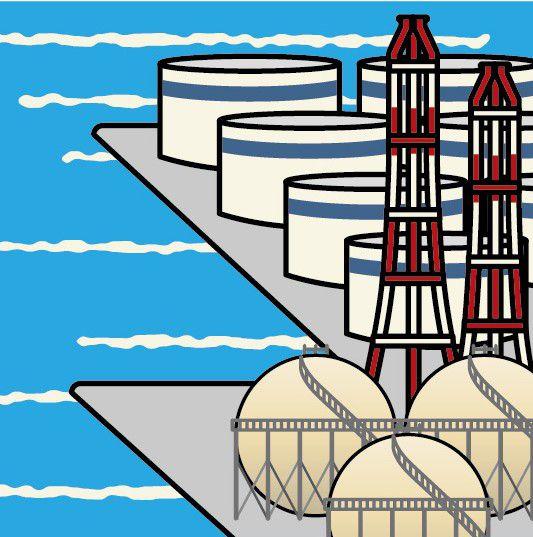 ガスタンクが球形、石油タンクが円筒形なのは何故?