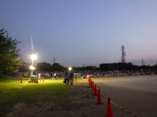 草加公園花火大会 (2)