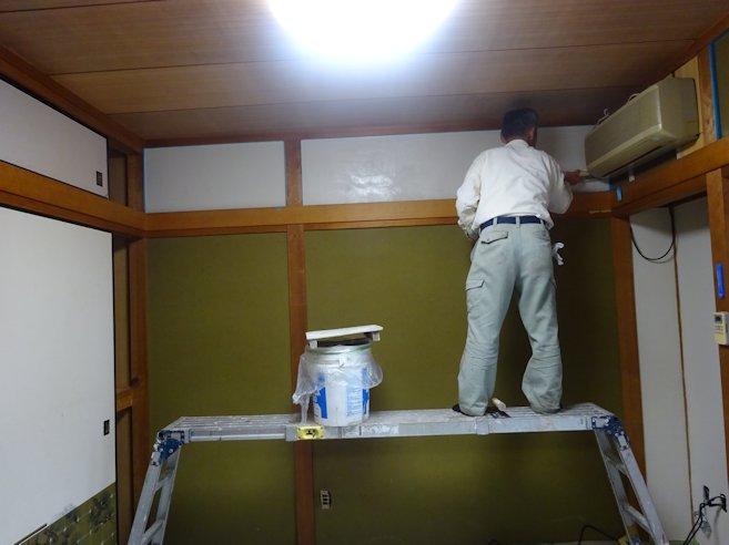 和室壁 珪藻土塗り