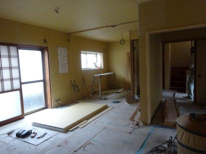 H邸リフォーム 2階内装下地施工中
