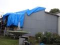 ブルーシートの屋根④