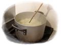 山芋と玉葱のポタージュ 玉ねぎを煮る