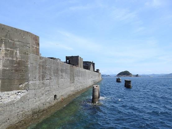 軍艦島埠頭付近